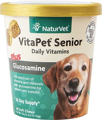 4. NaturVet VitaPet Senior Daily Vitamins Dog Supplement