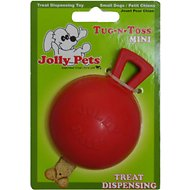 Jolly Pets Tug-n-Toss Mini Dog Toy, Red, 3-inch