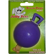 Jolly Pets Tug-n-Toss Mini Dog Toy, Purple, 3-inch