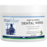 TrueBlue Pet Products Fast & Fresh Dog Dental Swipes, 50-count