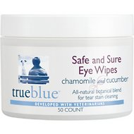 TrueBlue Pet Products Safe & Sure Dog Eye Wipes, 50-count