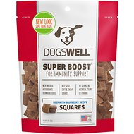 Dogswell Super Boost Squares Beef with Blueberry Recipe Dog Treats, 12-oz bag