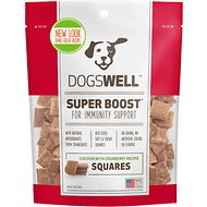 Dogswell Super Boost Squares Chicken with Cranberry Recipe Dog Treats, 12-oz bag