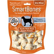 SmartBones Mini Sweet Potato Chews Dog Treats, 24 pack