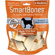 SmartBones Medium Sweet Potato Chews Dog Treats, 4 pack