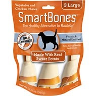 SmartBones Large Sweet Potato Chews Dog Treats, 3 pack