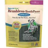 Ark Naturals Breath-Less Brushless Toothpaste Large Dog Chews, 18-oz bag