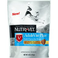Nutri-Vet Adult-Vite Plus Dog Soft Chews, 6-oz bag