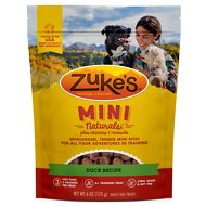 Zuke's Mini Naturals Delicious Duck Recipe Dog Treats, 6-oz bag