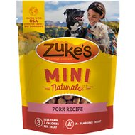 Zuke's Mini Naturals Roasted Pork Recipe Dog Treats, 1-lb bag