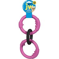 JW Pet Big Mouth Triple Ring Dog Toy, Color Varies