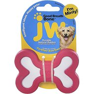 JW Pet Good Breath Bone Dog Toy, Color Varies, Small