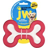 JW Pet Good Breath Bone Dog Toy, Color Varies, Large