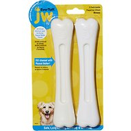 JW Pet Nylon Double Pack Chicken & Peanut Butter Dog Bone, Jumbo
