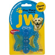 JW Pet Play Place Butterfly Puppy Teether, Color Varies