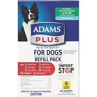 Adams Plus Flea & Tick Spot On Refill for Dogs (3-Month Supply), Large