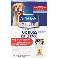 Adams Plus Flea & Tick Spot On Refill for Dogs (3-Month Supply), X-Large