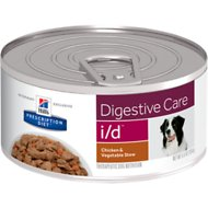 Hill's Prescription Diet i/d Digestive Care Chicken & Vegetable Stew Canned Dog Food, 5.5-oz, case of 24
