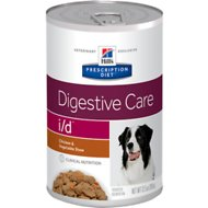 Hill's Prescription Diet i/d Digestive Care Chicken & Vegetable Stew Canned Dog Food, 12.5-oz, case of 12