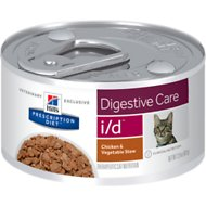 Hill's Prescription Diet i/d Digestive Care Chicken & Vegetable Stew Canned Cat Food, 2.9-oz, case of 24