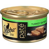 Sheba Premium Turkey Pate Entree Grain-Free Canned Cat Food, 3-oz, case of 24