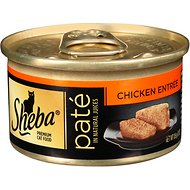 Sheba Premium Chicken Pate Entree Grain-Free Canned Cat Food, 3-oz, case of 24