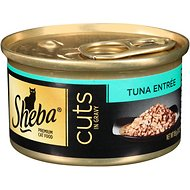 Sheba Premium Tuna Cuts in Gravy Entree Grain-Free Canned Cat Food, 3-oz, case of 24