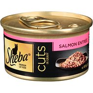 Sheba Premium Salmon Cuts in Gravy Entree Grain-Free Canned Cat Food, 3-oz, case of 24