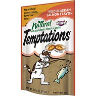 Temptations Natural Wild Alaskan Salmon Flavor Cat Treats, 2.47-oz bag