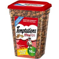 Temptations Mixups Backyard Cookout Cat Treats, 16-oz tub