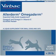 Virbac Omegaderm EZ-Dose Packets for Small Dogs & Cats, 28 count