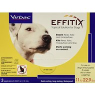Virbac Effitix Topical Solution for Dogs, 11-22.9 lbs, 3 treatments