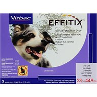 Virbac Effitix Topical Solution for Dogs, 23-44.9 lbs, 3 treatments