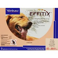 Virbac Effitix Topical Solution for Dogs, 45-88.9 lbs, 3 treatments