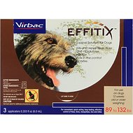 Virbac Effitix Topical Solution for Dogs, 89-132 lbs, 3 treatments