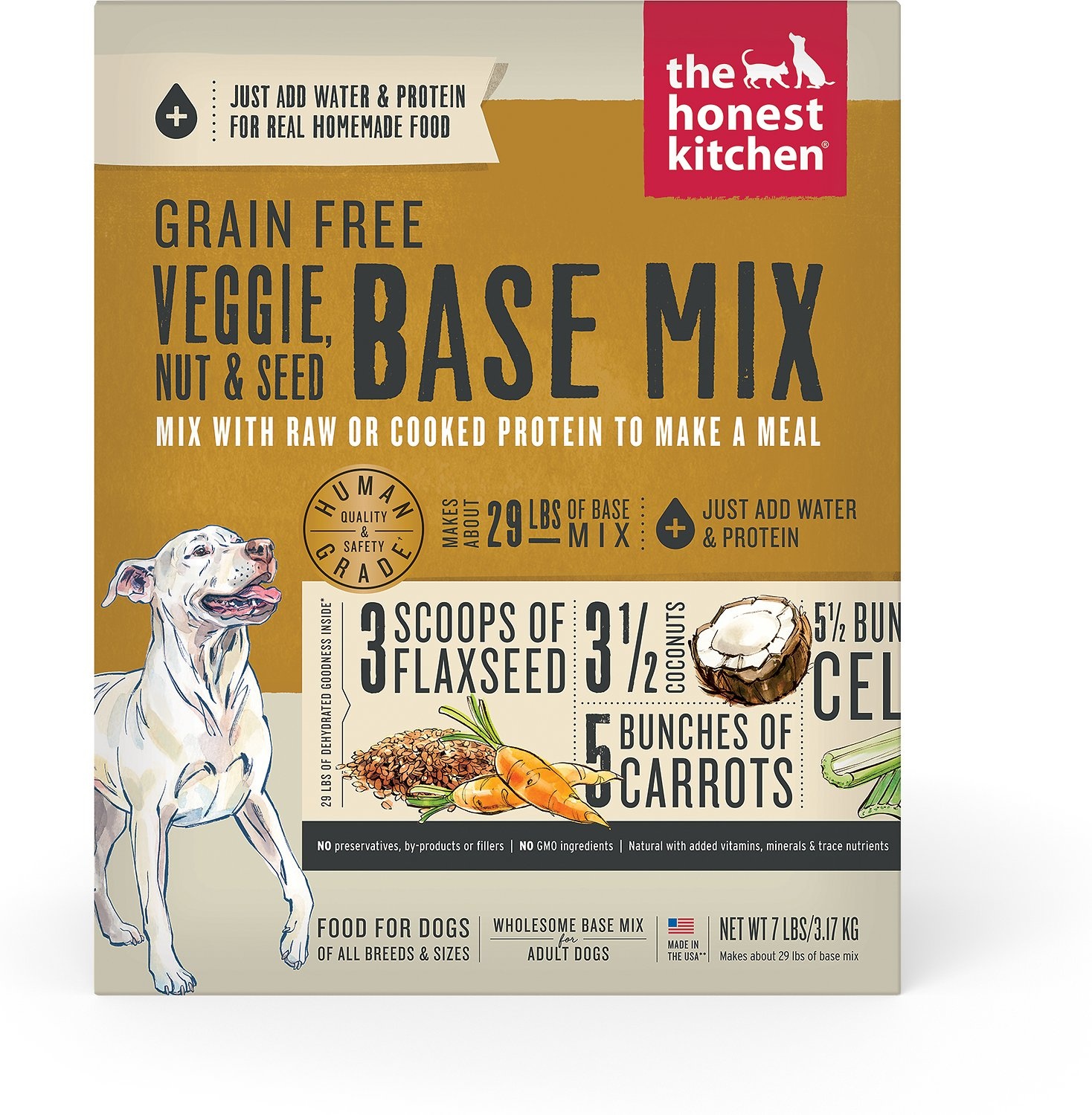 the honest kitchen kindly grain free dehydrated dog base mix 7 lb