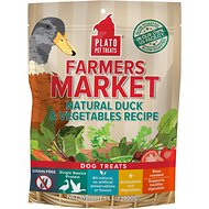 Plato Farmers Market Duck & Vegetables Grain-Free Dog Treats, 14.1-oz bag