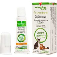 Vetoquinol Vet Solutions Enzadent Enzymatic Poultry-Flavored Fingerbrush Kit for Dogs & Cats