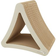 PetFusion 3-Sided Vertical Cat Scratcher, Warm Gray, Standard