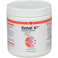 Vetoquinol Renal K+ Powder Dog & Cat Supplement, 100g container