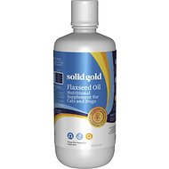 Solid Gold Supplements Flaxseed Oil Dog & Cat Supplement, 32-oz bottle