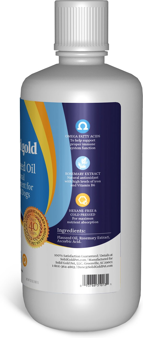 Solid gold flaxseed oil