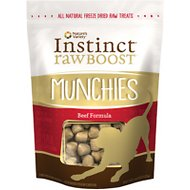 Instinct by Nature's Variety Raw Boost Munchies Beef Formula Freeze-Dried Dog Treats, 4-oz bag