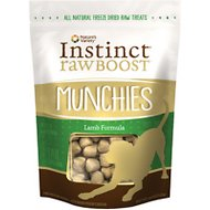 Instinct by Nature's Variety Raw Boost Munchies Lamb Formula Freeze-Dried Dog Treats, 4-oz bag