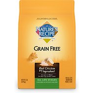 Nature's Recipe Grain-Free All Life Stages Chicken & Potato Recipe Dry Cat Food, 2-lb bag