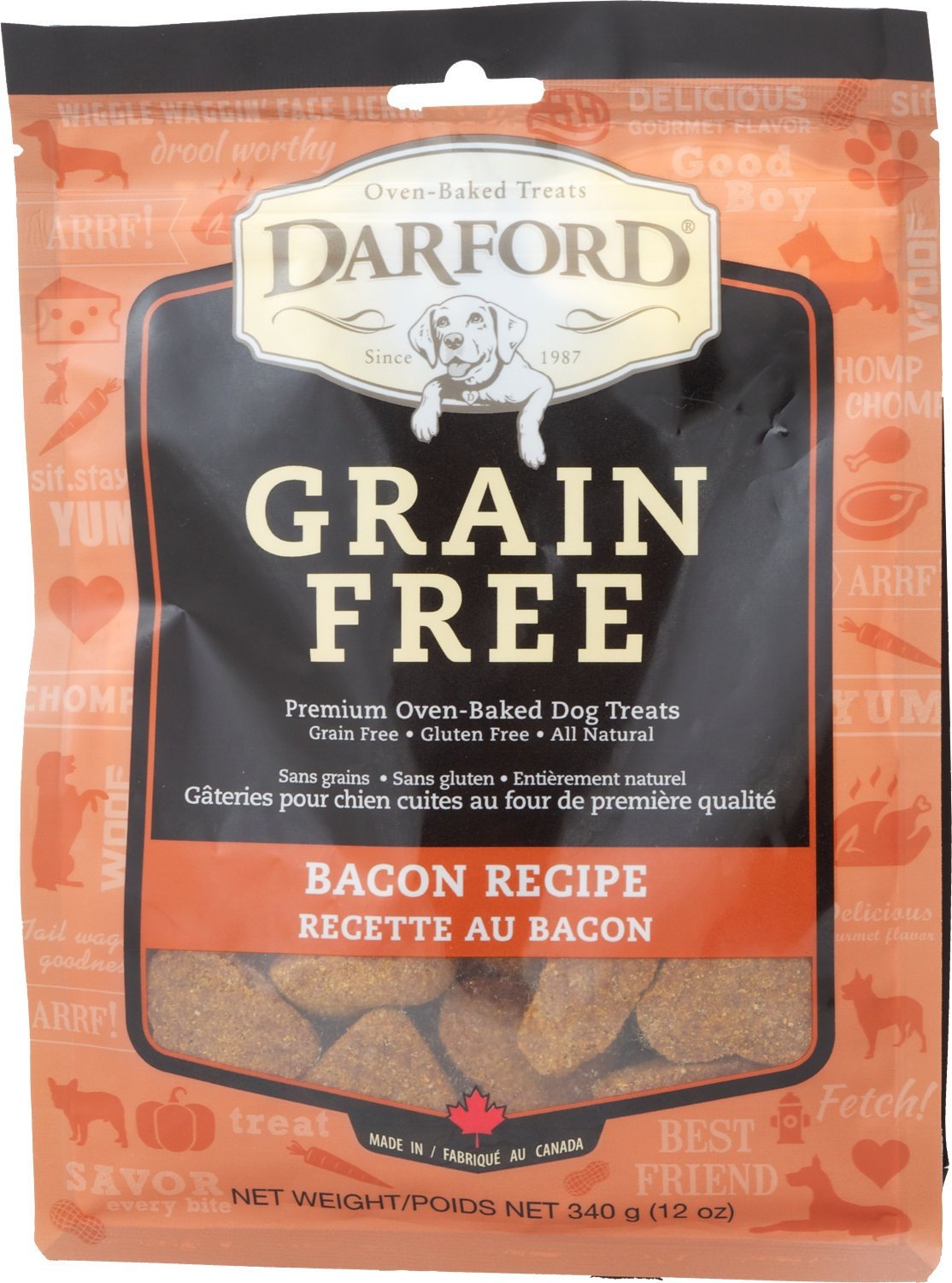 Darford Tasty Bacon Flavor Grain Free Dog Treats 12 Oz Bag Chewy Com