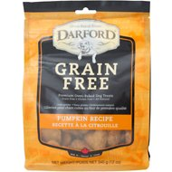 Darford Pumpkin Recipe Grain-Free Dog Treats, 12-oz bag