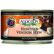 Addiction Grain-Free Hunter's Venison Stew Canned Cat Food, 5.5-oz, case of 24