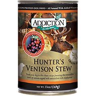 Addiction Grain-Free Hunter's Venison Stew Canned Dog Food, 13-oz, case of 12