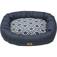 West Paw Bumper Bed, Cobalt Groove, Small